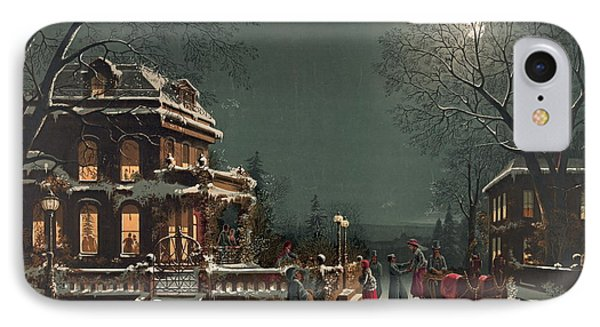 Christmas Eve 1880 IPhone Case by Padre Art