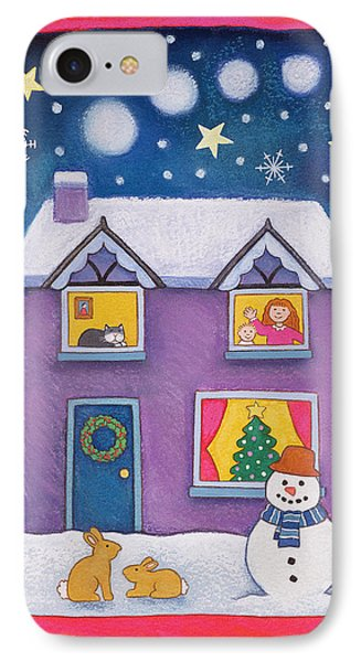 Christmas Eve IPhone Case by Cathy Baxter
