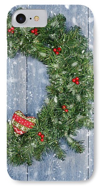 Christmas Garland IPhone Case by Amanda Elwell