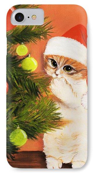 Christmas Kitty Phone Case by Anastasiya Malakhova