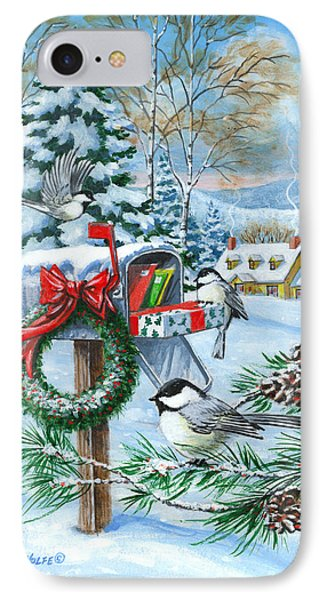 Christmas Mail Phone Case by Richard De Wolfe