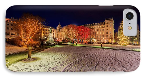 Christmas Time At Austurvollur IPhone Case by Panoramic Images