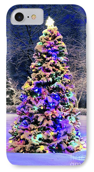 Christmas Tree In Snow IPhone Case by Elena Elisseeva