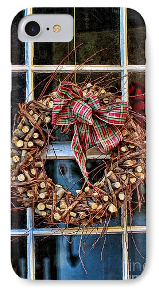 Christmas Wreath Phone Case by Darren Fisher