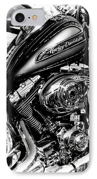 Chromed Harley Monochrome IPhone Case by Tim Gainey