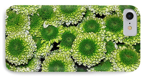 Chrysanthemum Green Button Pompon Kermit Phone Case by Kaye Menner