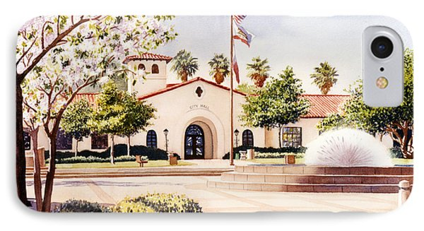 Chula Vista City Hall IPhone Case by Mary Helmreich