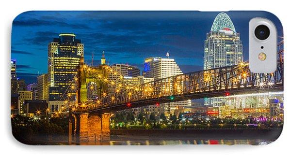 Cincinnati Downtown IPhone Case by Inge Johnsson