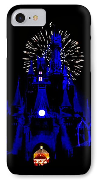 Cinderella Castle Fireworks IPhone Case by Benjamin Yeager