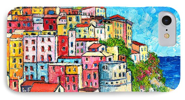 Cinque Terre Italy Manarola Colorful Houses  Phone Case by Ana Maria Edulescu