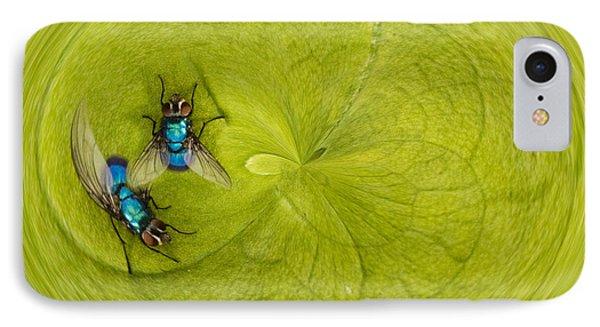 Circle Of Flies Phone Case by Jean Noren