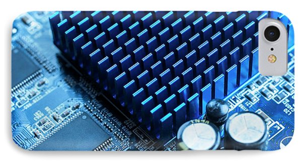 Circuit Board Heat Sink IPhone Case by Science Photo Library