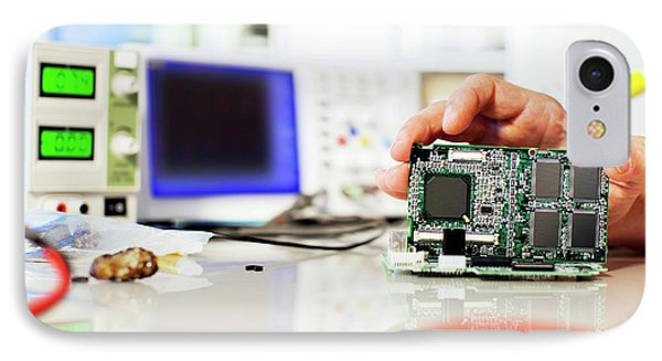 Circuit Board IPhone Case by Wladimir Bulgar