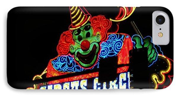 Circus Circus Sign Vegas Phone Case by John Malone