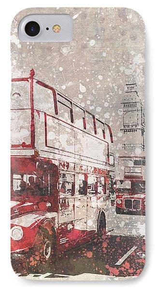 City-art London Red Buses II IPhone 7 Case by Melanie Viola