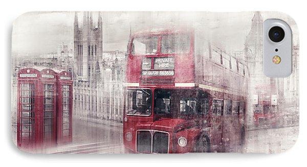City-art London Westminster Collage II IPhone 7 Case by Melanie Viola