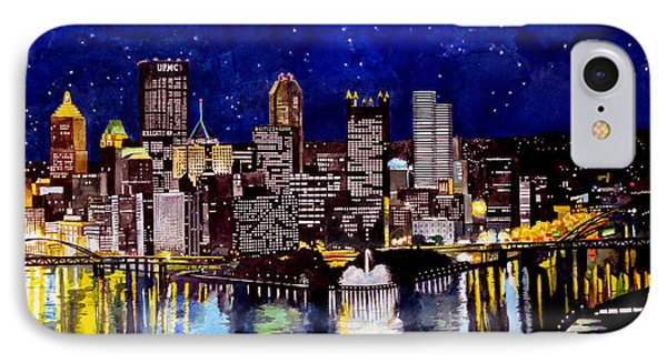 City Of Pittsburgh At The Point IPhone 7 Case by Christopher Shellhammer
