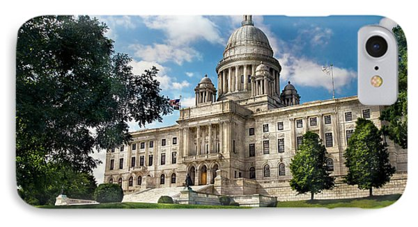 City - Providence Ri - The Capitol  Phone Case by Mike Savad