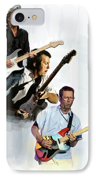 Clapton Eric Clapton IPhone 7 Case by Iconic Images Art Gallery David Pucciarelli