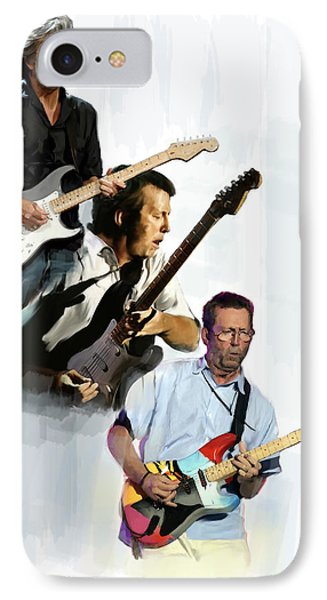 Clapton Eric Clapton IPhone Case by Iconic Images Art Gallery David Pucciarelli