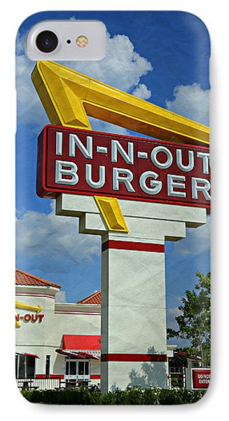 Classic Cali Burger 1.1 IPhone Case by Stephen Stookey