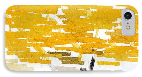 Classy Yellow Tree IPhone Case by Lourry Legarde