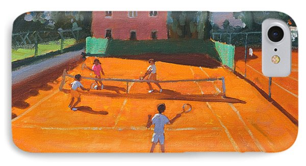 Clay Court Tennis IPhone Case by Andrew Macara