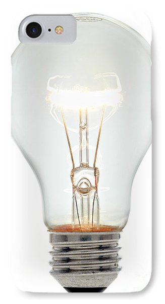 Clear Light Bulb IPhone Case by Olivier Le Queinec