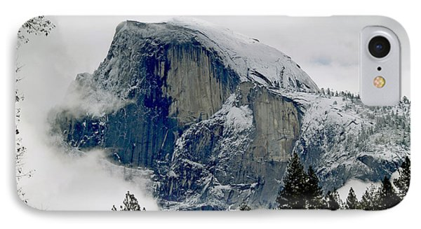 Clearing Storm Around Half Dome IPhone Case by Bill Gallagher