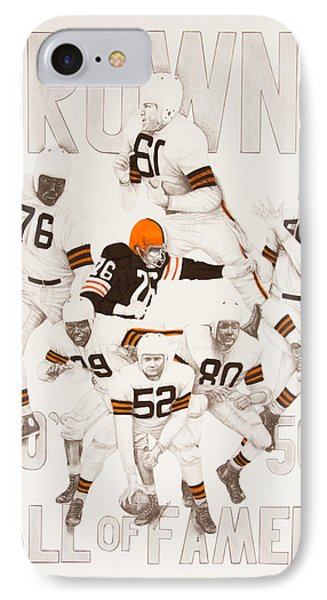Cleveland Browns 40's To 50's Hall Of Famers Phone Case by Joe Lisowski