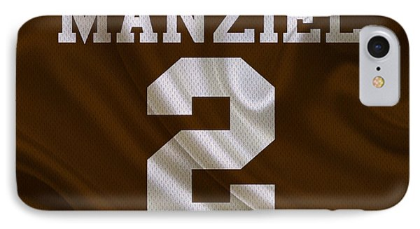 Cleveland Browns Johnny Manziel IPhone Case by Joe Hamilton