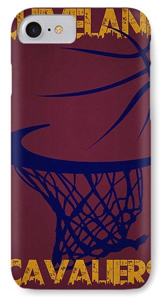Cleveland Cavaliers Hoop IPhone Case by Joe Hamilton
