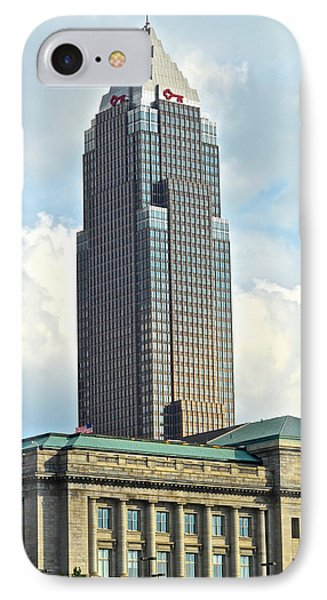 Cleveland Key Bank Building Phone Case by Frozen in Time Fine Art Photography