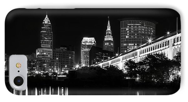 Cleveland Skyline IPhone Case by Dale Kincaid