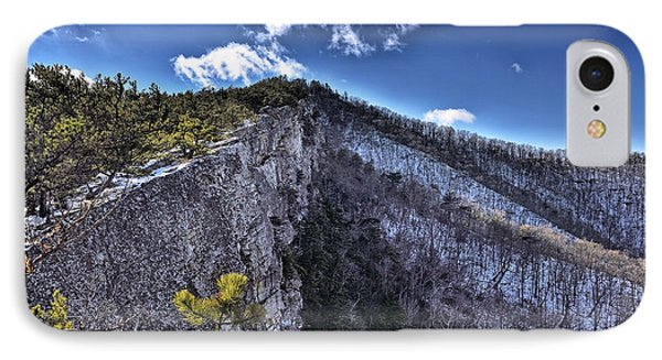 Cliffs Along North Fork Mountain Trail - West Virginia IPhone Case by Brendan Reals