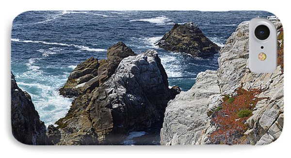 Cliffs And Coastline At California's Point Lobos State Natural Reserve IPhone Case by Bruce Gourley