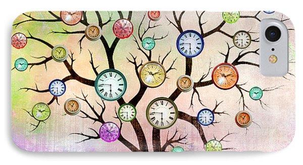 Clock Tree  IPhone Case by Mark Ashkenazi