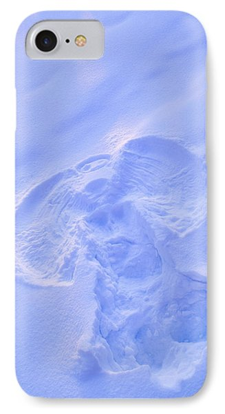 Close Up Of Snow Angel At Sunset With IPhone Case by Kevin Smith