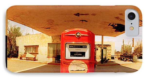 Closed Gas Station, Route 66, Usa IPhone Case by Panoramic Images