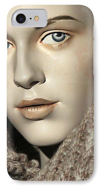 Closeup On Mannequin's Face Phone Case by Sophie Vigneault