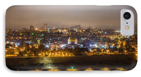 Cloudy Night In Jerusalem IPhone Case by David Morefield