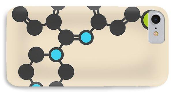 Clozapine Antipsychotic Drug Molecule IPhone Case by Molekuul