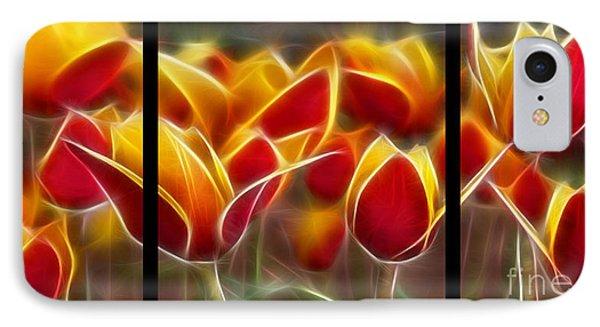 Cluisiana Tulips Triptych  IPhone Case by Peter Piatt