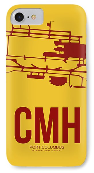 Cmh Columbus Airport Poster 3 IPhone Case by Naxart Studio