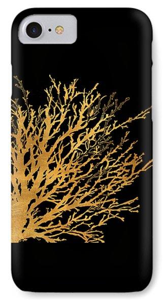Coastal Coral On Black II IPhone 7 Case by Lanie Loreth