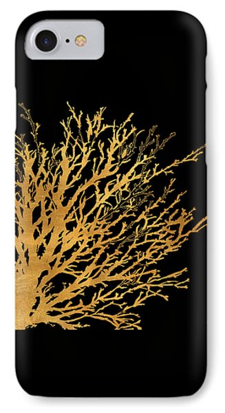 Coastal Coral On Black II IPhone Case by Lanie Loreth