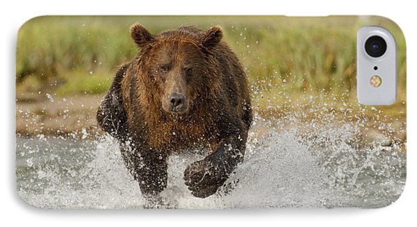 Coastal Grizzly Boar Fishing Phone Case by Kent Fredriksson