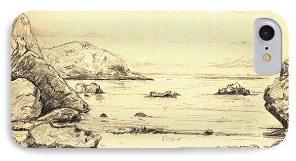 Coastal Scene Cuerno IPhone Case by Juan  Bosco