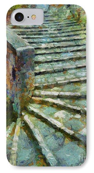 Cobbled Stairs In Pitignano IPhone Case by Dragica  Micki Fortuna