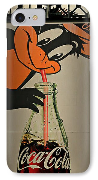 Coca Cola Orioles Sign IPhone Case by Stephen Stookey